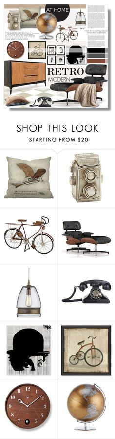 """Untitled #678"" by valentina1 on Polyvore featuring interior, interiors, interior design, дом, home decor, interior decorating, Dot & Bo, Herman Miller, Crate and Barrel и Eichholtz"
