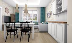 Kuchyňa s obývačkou Bratislava, New Homes, Table, House, Furniture, Design, Home Decor, Decoration Home, Home