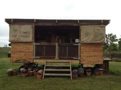 Ken Holland's Chefspod at Vallum Farm Northumberland. Rustic microkitchen in amongst the special veg Ken grows