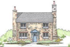 Cottage Style House Plan - 3 Beds 2 Baths 1292 Sq/Ft Plan #43-110 Exterior - Front Elevation - Houseplans.com