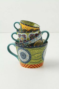 African fabric print teacups by Anthropologie