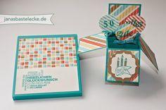 Karte in der Box zum 50. Geburtstag
