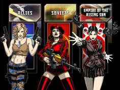 Red Alert 3 Commando Girls by SBlister.deviantart.com on @deviantART