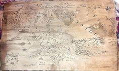 """Фэнтези ручной работы. Ярмарка Мастеров - ручная работа. Купить Карта средиземья из """"Властелина колец"""". Выжигание по дереву. Handmade. Бежевый"""