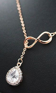 Rose Gold Infinity Bridesmaid Necklace