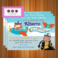 Airplane+Birthday+Invitation+Printable+Airplane+by+socuteandsweet,+$10.00