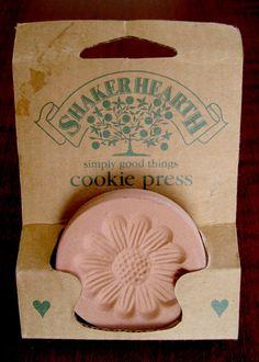 Vintage Daisy Cookie Press  Flower Cookie Stamp  by RedDressHanger