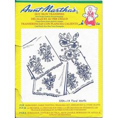 Aunt Martha's Hot Iron Transfers 3254 Floral Motifs Open Package 1 Missing Listing in the Fabric Transfers,Fabric Painting & Decorating,Crafts, Handmade & Sewing Category on eBid Canada Iron On Transfer, Fabric Painting, Floral Motif, Aunt, Craft Supplies, Packaging, Canada, Decorating, Sewing