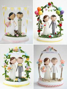 lollipop workshop wedding cake toppers - Read more on One Fab Day… Wedding Groom, Our Wedding, Dream Wedding, Purple Wedding, Lace Wedding, Wedding Summer, Monogram Wedding, Bride Groom, Floral Wedding