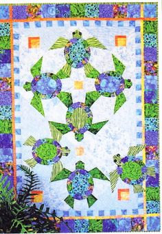 Shell We Dance - fun paper pieced & applique wall quilt pattern