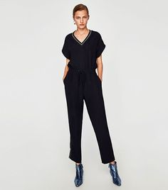 276be1366e96 11 Outfits to Wear on Your Next Bowling Date (WhoWhatWear.com) · Bowling  ShirtsPolka Dot ShirtZara JumpsuitDate ...