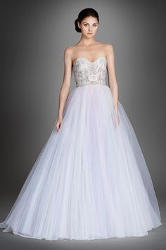 Love this pastel purple ball gown wedding dress? You need check out the Lazaro Fall 2015 bridal collection: http://www.colincowieweddings.com/wedding-dresses/lazaro-fall-2015/complete