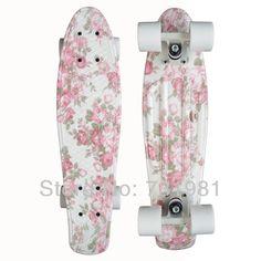 """1 pcs nuevo 22"""" penny impresa estilo skate completa retro niño niña cruiser mini mochila de longboard de pescado de skate bordo de largo"""