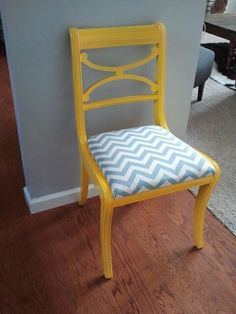 Mismatched dining room chairs are comfortable and don't feel stuffy.  I think it makes for a happy meal when you're sitting in a yellow chair.