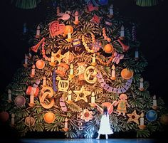 A signature moment of Pacific Northwest Ballet's Stowell/Sendak Nutcracker occurs when Clara's Christmas tree grows from 14 to 28 feet.  The majestic tree was constructed by Boeing engineers and weighs 1,000 pounds.