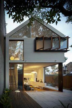Pin on Art&ecture House Windows, Facade House, Gable House, Tiny House Exterior, Small Log Cabin, 2 Storey House, Modern Minimalist House, Exterior Cladding, Facade Architecture