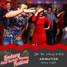 Cool parties with crazy animation Check LimburgSalsaFestival.com #10LSBKF #LSF #LSBKF #SalsaBrisa #Maastricht #Alwaysfun #Nonstopdancing #nonstopfun