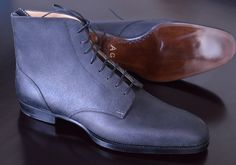 Model 403S, derby boot, black grev reverso