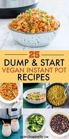 Vegan Recipes Easy, Whole Food Recipes, Delicious Recipes, Cooking Recipes, Dump Recipes, Instapot Vegetarian Recipes, Vegetarian Recipes Instant Pot, Vegan Crockpot Recipes, Vegetarian Recipes Pressure Cooker