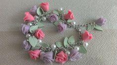 Розы Эдема. Браслет из запекаемой полимерной глины. от VinTESA