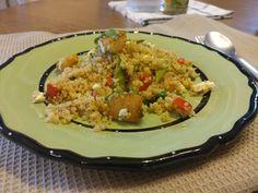 Healthy weeknights Easy Peasy Dinner: Toasted Quinoa Salad with Scallops & Snow Peas #healthier2017 #weeknightsdinners #ahappycook