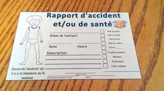 Rapport d'accident Date Heure, Travel, Teaching Tools, Note Cards, Management, Viajes, Trips, Tourism, Traveling