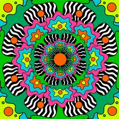 "psy-spiritual: ""Psychedelic Art & Animation by Oliver Hibert "" – My CMS Psychedelic Drawings, Psychedelic Pattern, 60s Art, Retro, Psychadelic Art, Hippie Art, Hippie Trippy, Wall Collage, Unique Art"