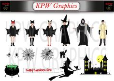 Halloween Dolls and Accessories Pack 1 including 6 by KPWgraphics