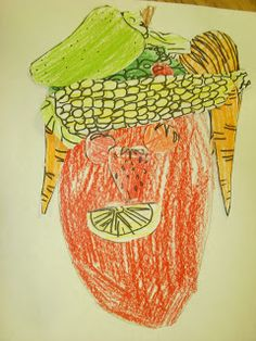 We looked at the very famous vegetable and fruit portraits of Renaissance artist Giuseppe Arcimboldo! We pointed out all ...