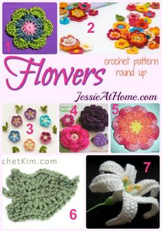 free #crochet flower patterns rounded up by @jessieathome