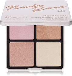 BHcosmetics Nude Rose Highlight paleta rozjasňovačov Bh Cosmetics, Highlights, Blush, Eyeshadow, Nude, Makeup, Beauty, Perfume Store, Blusher Brush