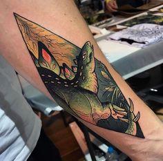Dean Kalcoff dinosaur tattoo