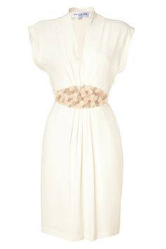 This dress is so beautiful (Paul & Joe, Ecru Flower Belt Dress)