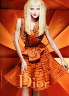 You are interested in Jessica Stam for Dior? Fashion ads, pictures, prints and advertising with Jessica Stam for Dior can be found here. Jessica Stam, John Galliano, Orange Mode, Christian Dior, Craig Mcdean, Campaign Fashion, Orange Aesthetic, Mode Editorials, Fashion Editorials