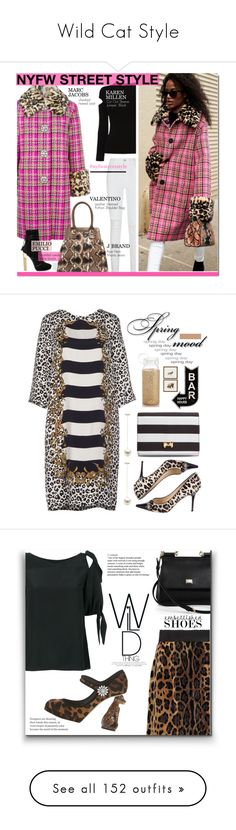 """""""Wild Cat Style"""" by yours-styling-best-friend ❤ liked on Polyvore featuring Marc Jacobs, J Brand, Valentino, Karen Millen, Emilio Pucci, NYFW, Whit, Jimmy Choo, Ted Baker and Kate Spade"""
