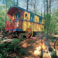 Caravan Gypsy Vardo Wagon:  A #Gypsy wagon. Unconventional Homes : Architectural Digest.