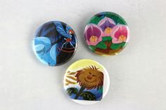 Alice In Wonderland Pins, Disney Story Book Buttons, Gift Badge Set by JeepsterVintage on Etsy
