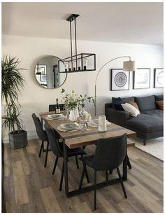 Home Room Design, Dining Room Design, Kitchen Design, Dinning Room Ideas, Family Room Design, Dining Area, Kitchen Decor, Home Living Room, Interior Design Living Room