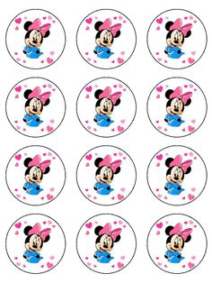Mickey and Minnie Mouse 7 5 Round Edible Icing Cake Topper