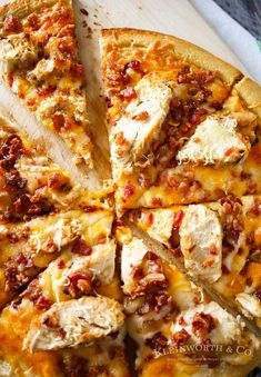 Chicken Bacon Pizza with Garlic Cream Sauce from Kleinworth & Co.