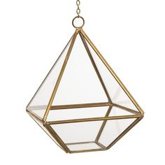 """Amazon.com: Ling's moment Glass Geometric Terrarium for Hanging, Air Plant Holder, Gold, Small, 4""""x4""""x4.9"""": Home & Kitchen"""