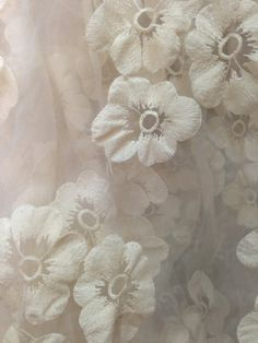 Ivory Organza Lace Fabric vintage lace fabric Retro by LaceFun