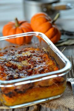 Gratin of pumpkins Food To Go, Love Food, Food And Drink, Going Vegetarian, Vegetarian Recipes, Lunch Recipes, Cooking Recipes, Road Trip Food, Road Trips