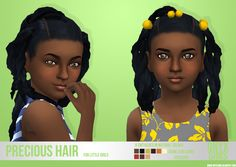 Sims 4 CC's - The Best: Precious Ponytails Hair for Girls by OnyxSims