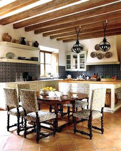 Here are the Spanish Kitchen Design Ideas. This post about Spanish Kitchen Design Ideas was posted under the Kitchen category. Spanish Style Decor, Spanish Style Homes, Spanish Design, Spanish Kitchen, Mediterranean Home Decor, Rustic Kitchen, Kitchen Decor, Kitchen Design, Kitchen Layout