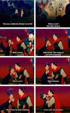 Mulan...she's a woman
