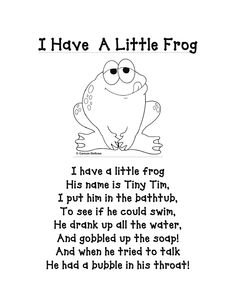 rx online I have a little frog poem/printable (other great printables too!) I have a little frog poem/printable (other great printables too! Preschool Poems, Preschool Music, Preschool Activities, Rhyming Poems For Kids, Short Poems For Kids, Frogs Preschool, Short Children's Poems, Funny Kids Poems, Funny Rhymes For Kids