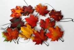 Fall Wedding Decor, Fall Wedding Favors,Wood Maple Leaf Hanging Ornament, Hand Made, Hand Painted, 10 Maple Leaves, Free Shipping by NorthwoodsCarvings on Etsy