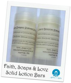 Solid Lotion Bars from @FaithSoapsnLove via @agirlsgottaspa #review #beauty