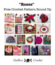 """""""Roses"""" - Free Crochet Pattern Round Up"""